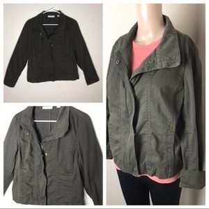 Coldwater Creek Utility Jacket Green 6-8P